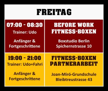 Trainingsplan Freitag