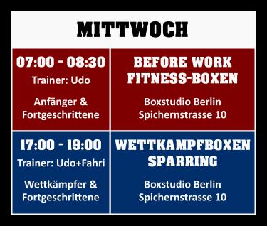 Trainingsplan Mittwoch